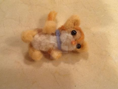 Needle Felted Kitty by popmaster101