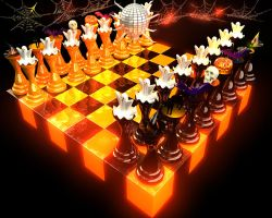 Halloween Chess Party by 00alisa00