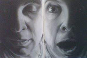 charcoal study 2 - diptych by dr-dulouz