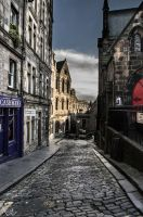 Edinburgh from street level by MichelleWarrenPhoto