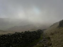 Kentmere Fells in downpour by mountcresent