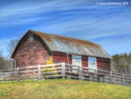 Barn With White Doors by jim88bro