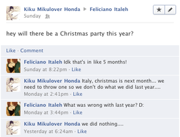 Hetalia Facebook: Christmas Already? by gilxoz-epicness
