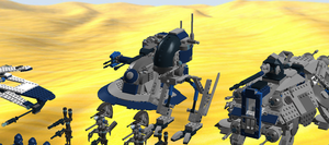 Close Up Of Boarding Party Chicken Walker Droid by mafia279