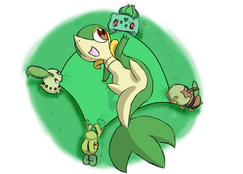 Grass Pkmn-Welcome Snivy by MizunoMirai