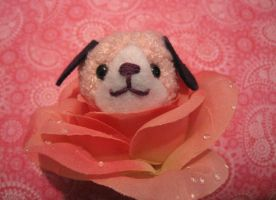 Amigurumi Pink Doggy Flower by AmiTownCreatures