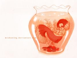 Goldfish Mermaid by MieKuning