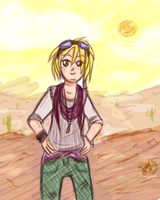 Some kid from the desert,, by Ana-The-Unknown