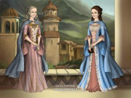 Anne and Diana in style of Barbie in LotR by Arrelline