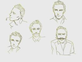 Tom Hiddleston doodles by Junjeeaieyu