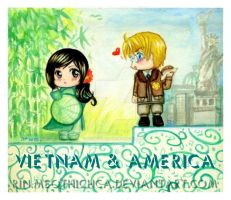 VietNamchan and America (Fanart Hetalia) by Rinmeothichca