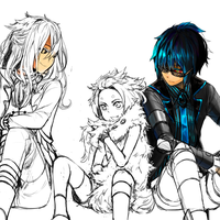 Gijinkas in process by Yeale