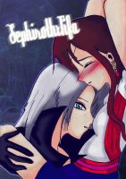 Sephiroth x Tifa -color- by LadyMarluxia