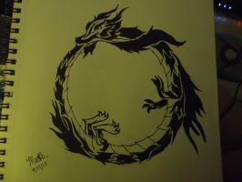 Ouroboros by Mednightmarefox423