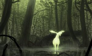 White Moose - Speedpainting Video by Hideyoshi