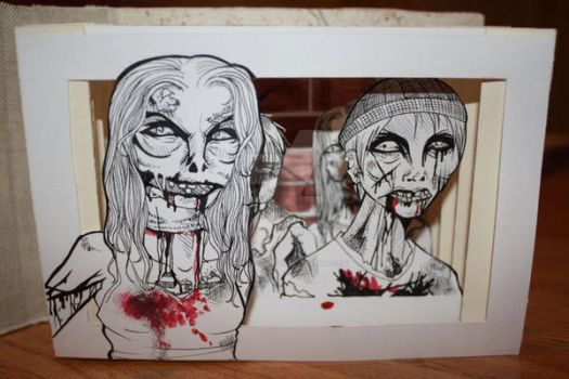 Zombie Pop-Up Book by thecreativepen