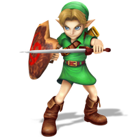 Young Link, Smash Bros Style Render by Nibroc-Rock