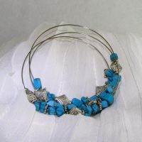 Gemstone Memory Wire Brace by shrela