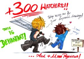 Thanks for +300 Watchers! by AurelGweillys