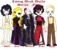 Living Dead Dolls Series Five by spookydarling