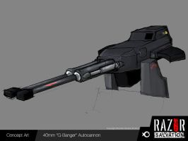 Weapon - 'G-Banger' Auto Cannon by HozZAaH