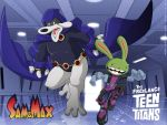 Sam and Max - Teen Titans by jodi-seer