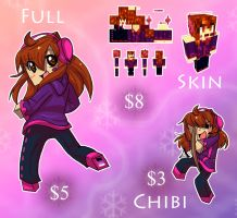 Minecraft Commissions [TEMPORARILY CLOSED] by DNAngelgal