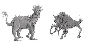 Creature Designs WIP by parkurtommo
