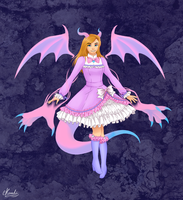 Pastel Dragon Magical Girl by Kamhi