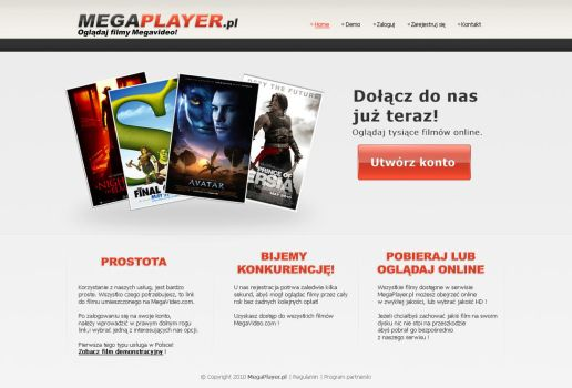 Layout for megaplayer.pl by CargoDesign