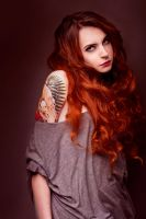Redhead girl with tatoo by KasjaKimenka