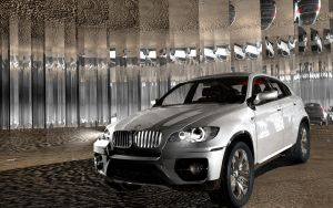 bmw x6 in front by artsoni