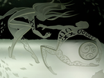 Skribble dancers etched glass by ImaginedGlass