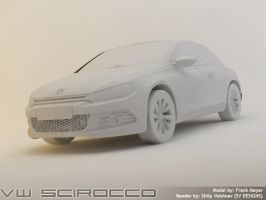 VW Scirocco - Rendering WIP 3 by shilpinator