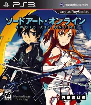 Sword Art Online - PS3 Game Box Cover by GUSRG