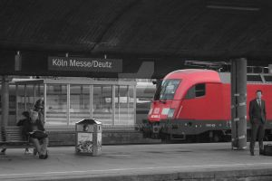 Railway Station Colone Messe by janvandyk