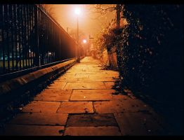 dark path next to a park by divinedecay
