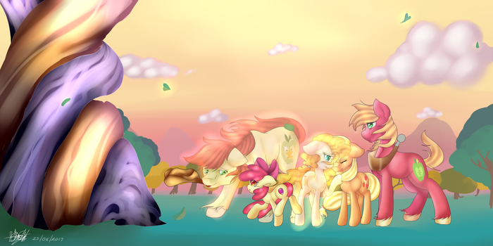 Apple To The Core Forever by FleetyArrowDraw