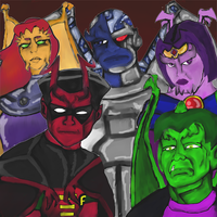 Gargoyle's Crossovers - Teen titans by dragonfire53511