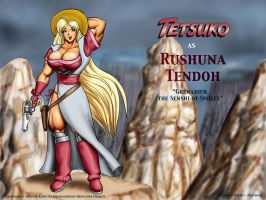 Tetsuko as 'Rushuna Tendoh' by DavidCMatthews