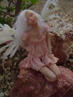 Touch Fairy Art Doll Sculpture by LindaJaneThomas