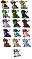 Icons round DEUX o: by BellaPanther