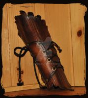 leather bracer wood elf bark by Lagueuse