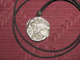 Cultist amulet Brushed silver by tk8247