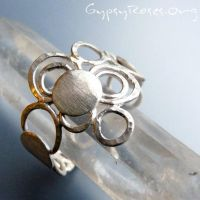 Circle Round Cuff Ring in SS by che4u