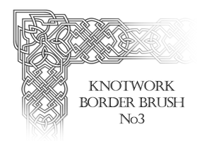 Knotwork Border Brush No 3 by frivolity65