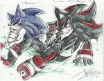 Sonic and Shadow by Mimy92Sonadow
