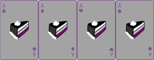 Ace Deck 76: Cake+Grey+Violet by Galadnilien