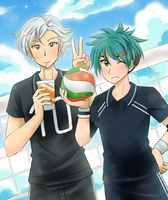 Volleyball players - Commission by chikorita85