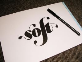 Handlettering: soft by Play4ce